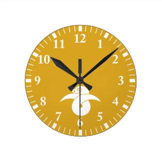 Knot wild goose gold round clock