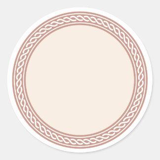 Knots Border Blank Template Label