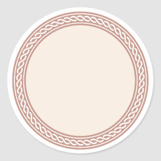 Knots Border Blank Template Label Round Sticker