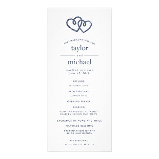 Knotted Hearts Wedding Ceremony Program