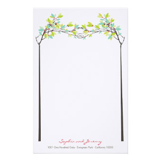 Knotted Love Spring Trees Wedding Stationery