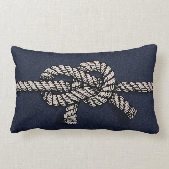 Knotted Nautical Rope Lumbar Pillow
