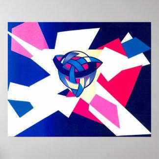 """Knotted World"" Fine Art Print Blue"