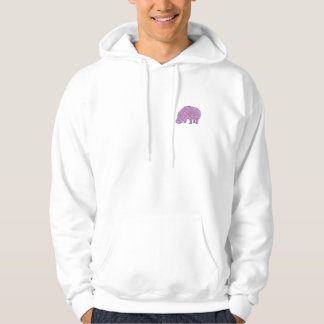 Knotty Hippo - back Hoodie