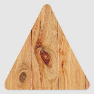 Knotty Light Wood Grain Floor Triangle Sticker
