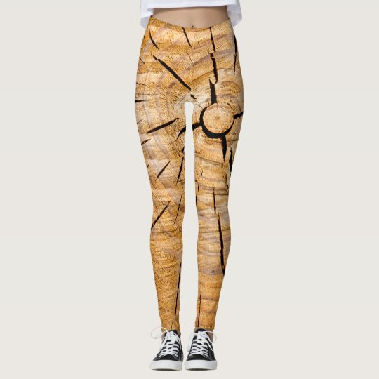 Knotty Wood Slice of Life Leggings
