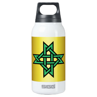 Knotwork Cross ~ Eightfold Star ~ 16 crossings SIGG Thermo 0.3L Insulated Bottle