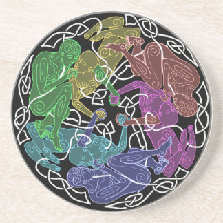 Knotwork Rainbow Lovers Coaster