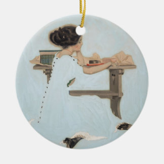 Know All Men by These Presents by Coles Phillips Round Ceramic Ornament
