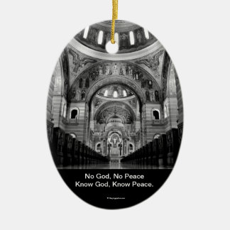 Know God Ceramic Oval Ornament