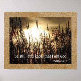 Know I Am God -- Psalms 46:10 - Art Print