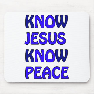 Know Jesus Know Peace No Jesus No Peace Dark Blue Mouse Pad