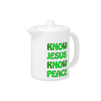 Know Jesus Know Peace No Jesus No Peace Green