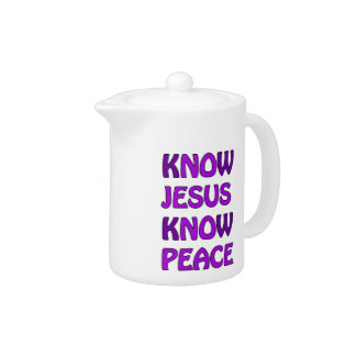 Know Jesus Know Peace No Jesus No Peace In Purple