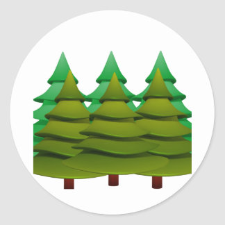 KNOW THE FOREST CLASSIC ROUND STICKER