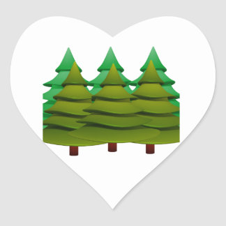 KNOW THE FOREST HEART STICKER