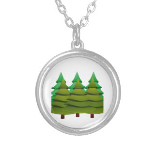 KNOW THE FOREST SILVER PLATED NECKLACE
