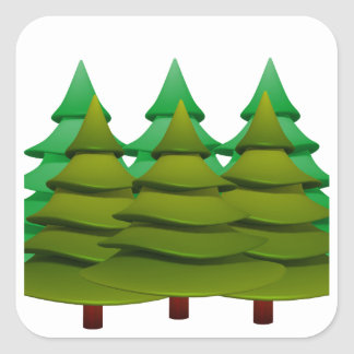 KNOW THE FOREST SQUARE STICKER