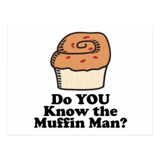 know the muffin man postcards