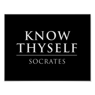 Know Thyself - Socrates Poster