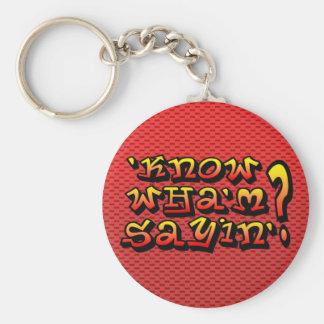 know wha m sayin keychain