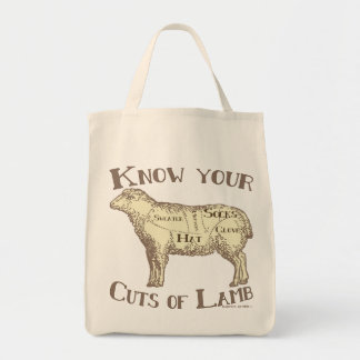 Know your cuts of lamb FUNNY DIY Tote Bag