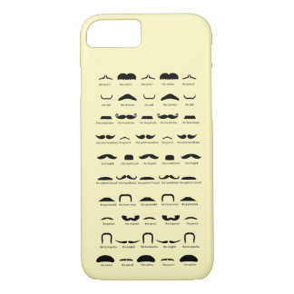 Know your mustache ? Yellow iPhone 8/7 Case