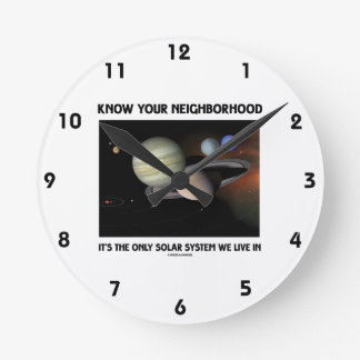 Know Your Neighborhood It's The Only Solar System Wall Clocks