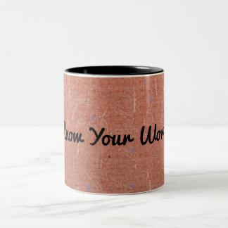 Know Your Worth Two-Tone Coffee Mug