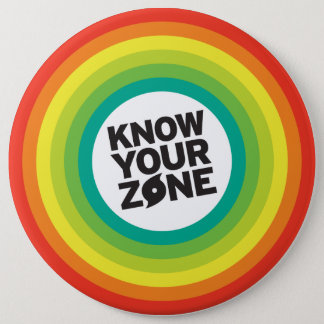 Know Your Zones 6 Inch Round Button