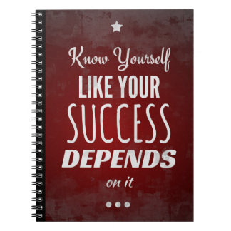 Know Yourself Like Your Success Depends on It Spiral Notebook