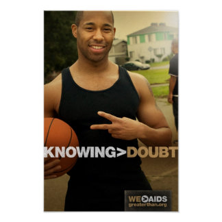 Knowing > Doubt Basketball Poster