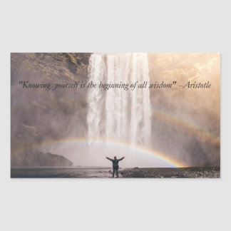 Knowing Yourself Quote - Rectangle Sticker