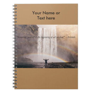 Knowing Yourself Quote - Sprial Notebook