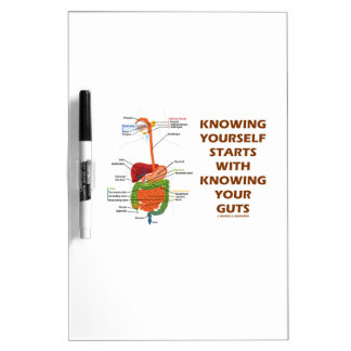 Knowing Yourself Starts With Knowing Your Guts Dry Erase Board