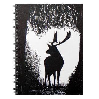 Knowle Park in Sevenoaks Hand Drawn Deer Notebook