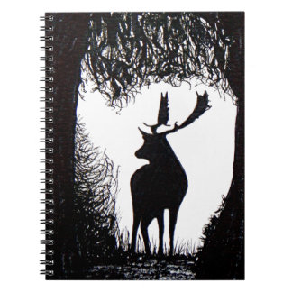 Knowle Park in Sevenoaks Hand Drawn Deer Spiral Notebook