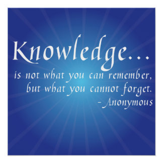 Knowledge... Inspirational Wisdom Quote Poster