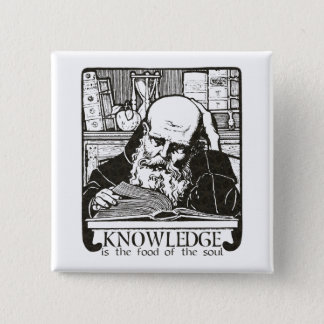 Knowledge is Food 2 Inch Square Button