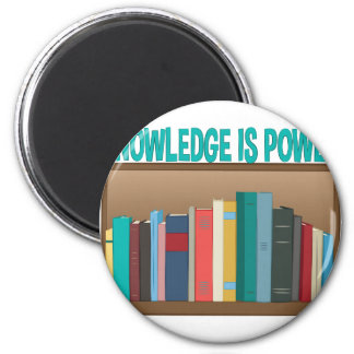 Knowledge Is Power 2 Inch Round Magnet