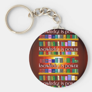 Knowledge is Power Bookscase Key Chains