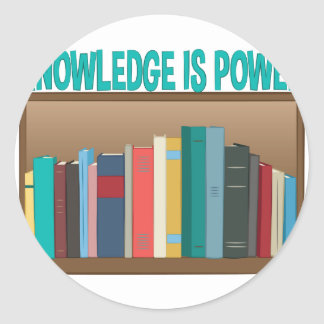 Knowledge Is Power Round Sticker