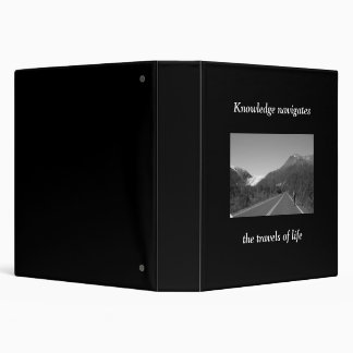 Knowledge navigates the travels of life vinyl binders