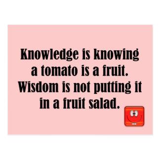 knowledge postcard
