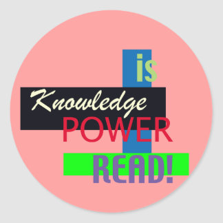 Knowlege is Power - Read Sticker