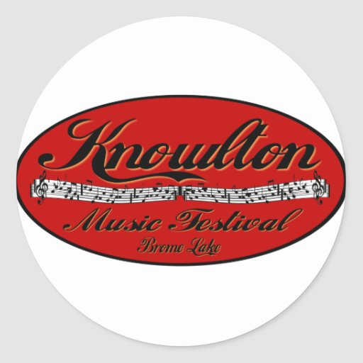 Knowlton Music Festival Red Spot Round Stickers
