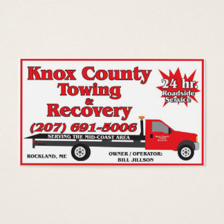 Knox County Towing Business Card