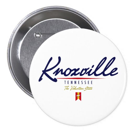 Knoxville Script Pinback Buttons