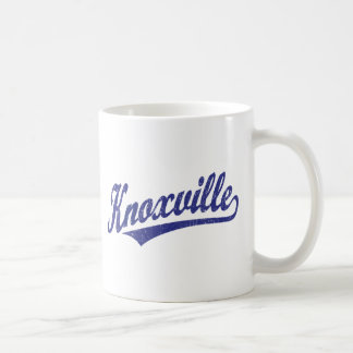 Knoxville script logo in blue distressed coffee mug
