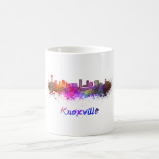 Knoxville skyline in watercolor coffee mug